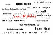 Postkarte: Sex Muffel