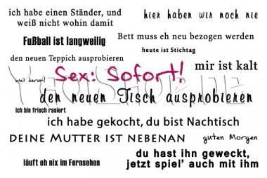 Postkarte: Sex Sofort