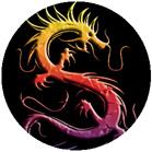 Button: China Blue Dragon