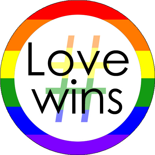 Button: # Love Wins