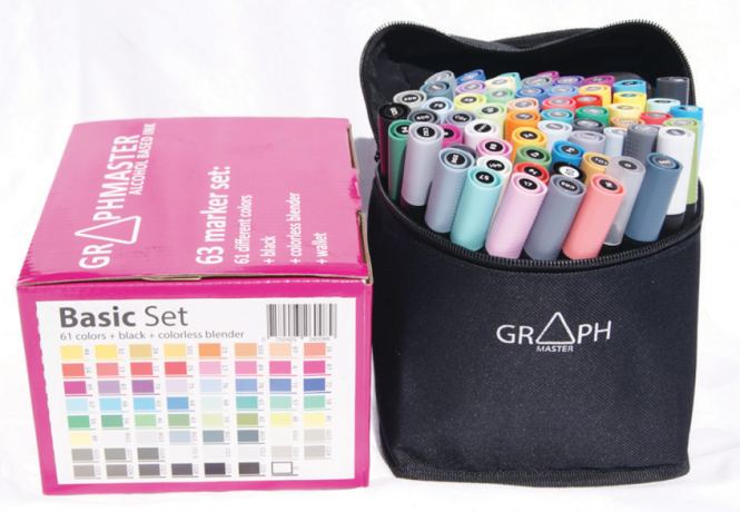 Graphmaster 63 Marker Set Basic